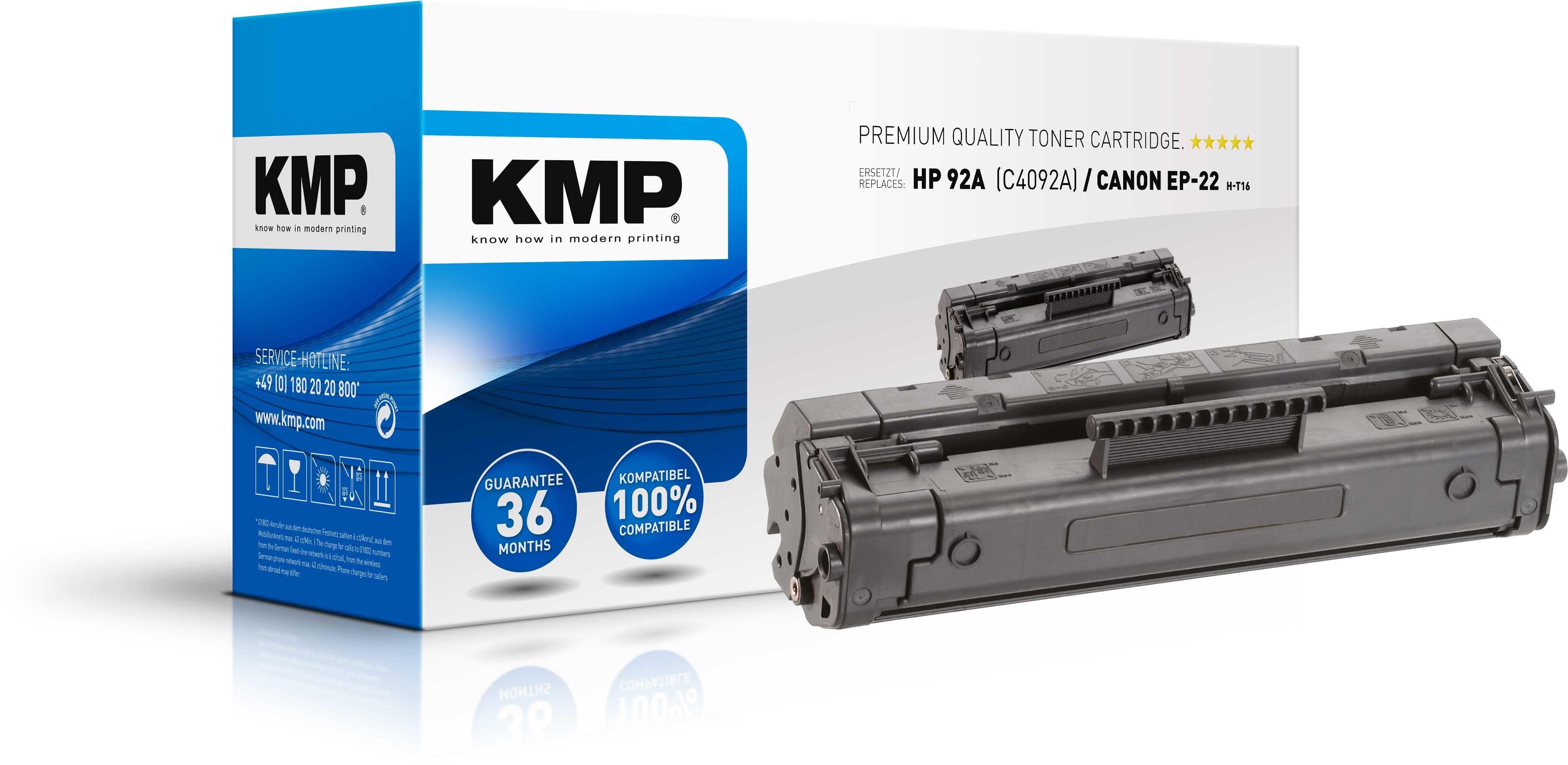 KMP Toner für HP Q4092A Laserjet 1100 / 3200 Series LBP-800 etc.