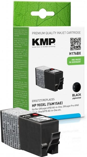 KMP H176BX schwarz Tintenpatrone ersetzt HP OfficeJet HP 903XL (T6M15AE)