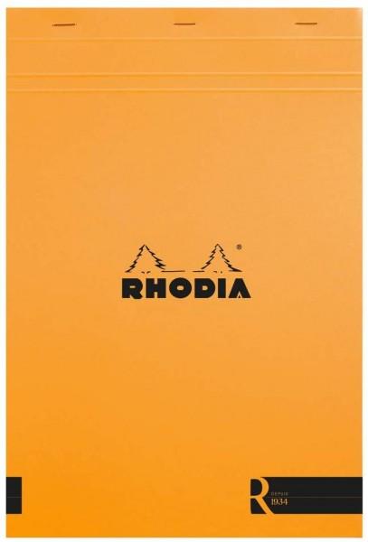Rhodia 192007C Notizblock (kopfseitig geheftet, DIN A4, 21 x 29,7 cm, blanko, 70 Blatt) 1 Stück oran