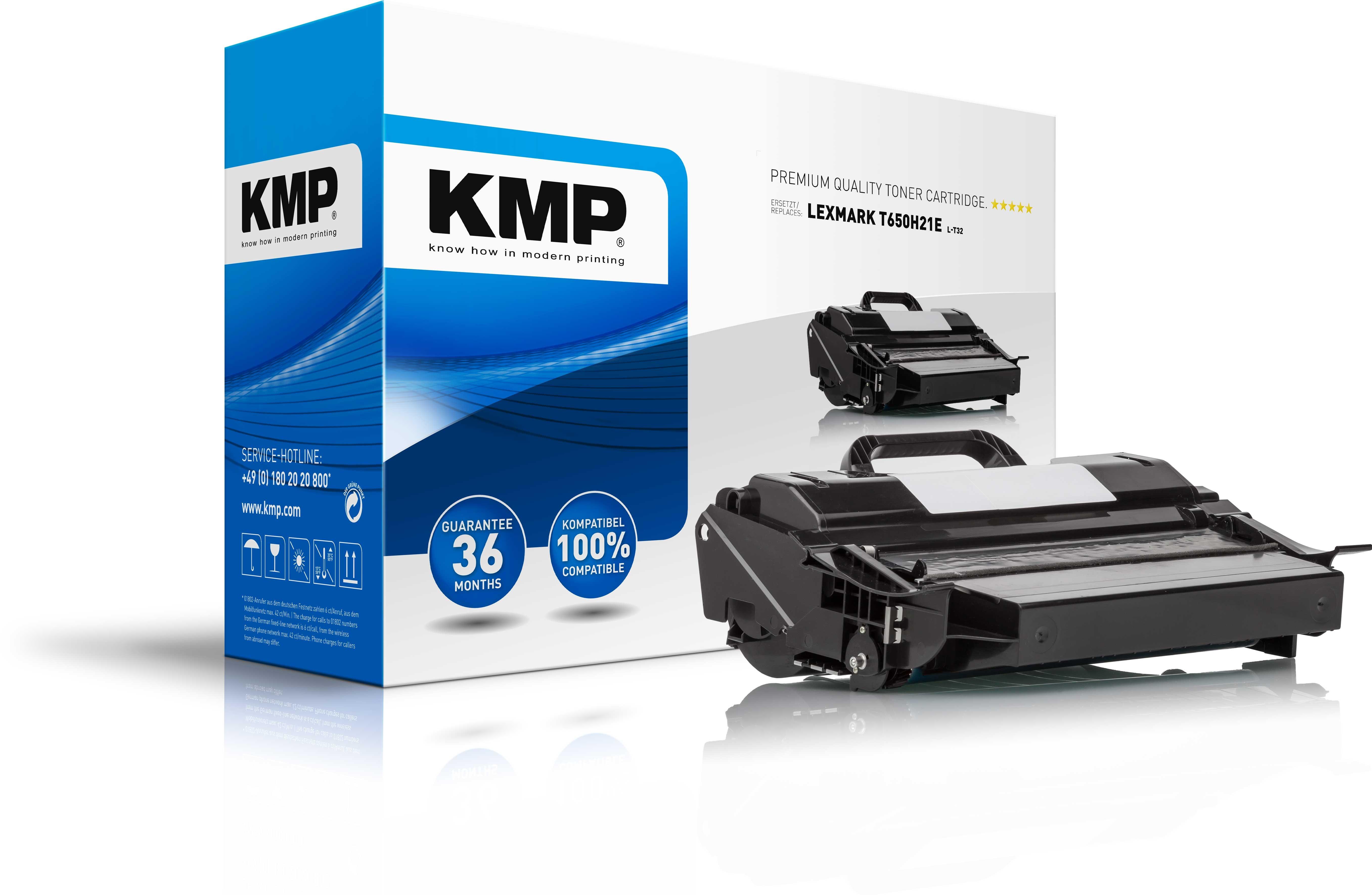 KMP Toner L-T32 für Lexmark T650H21E T650n etc. black