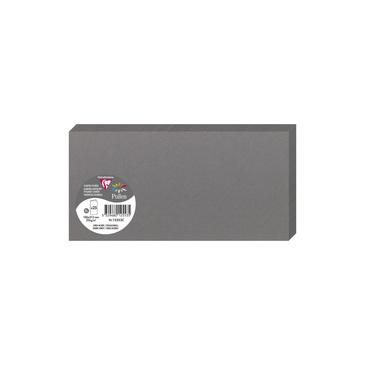 Clairefontaine 12553C Packung mit 25 Doppelkarten, gefaltet 210g, in Format DL, 106 x 213mm, Stahlgr