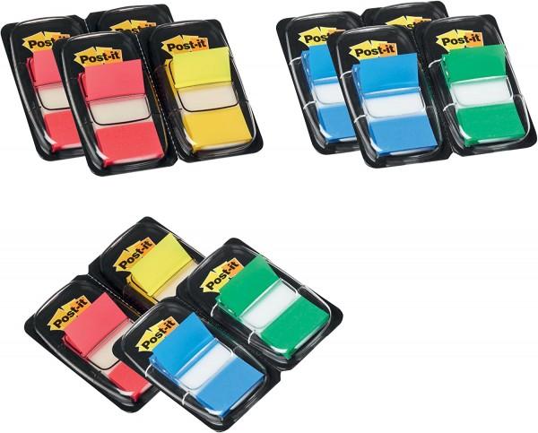 Post-it Haftstreifen Index Promotion 680-P12 – Farbige Haftnotizen in 25,4 x 43,2 mm – 12 Notizblöck