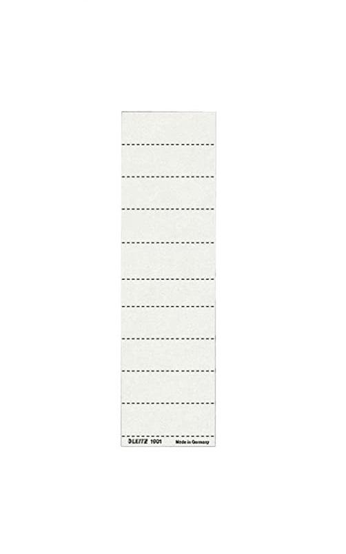 Leitz 19010001 Schildchen (Blanko, Universal Aufkleber, 4-zeilig) 100 Stück weiß