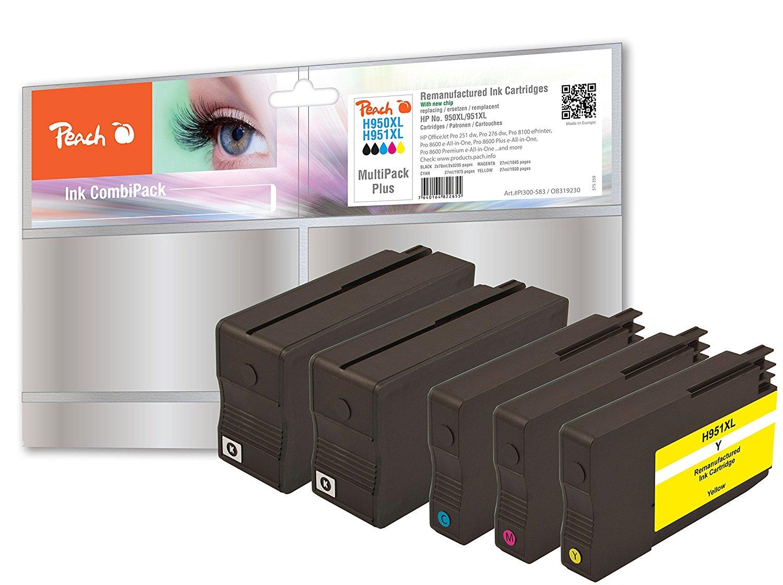 Peach Spar Pack Plus Tintenpatronen kompatibel zu HP No. 950XL, No. 951XL - PI300-583