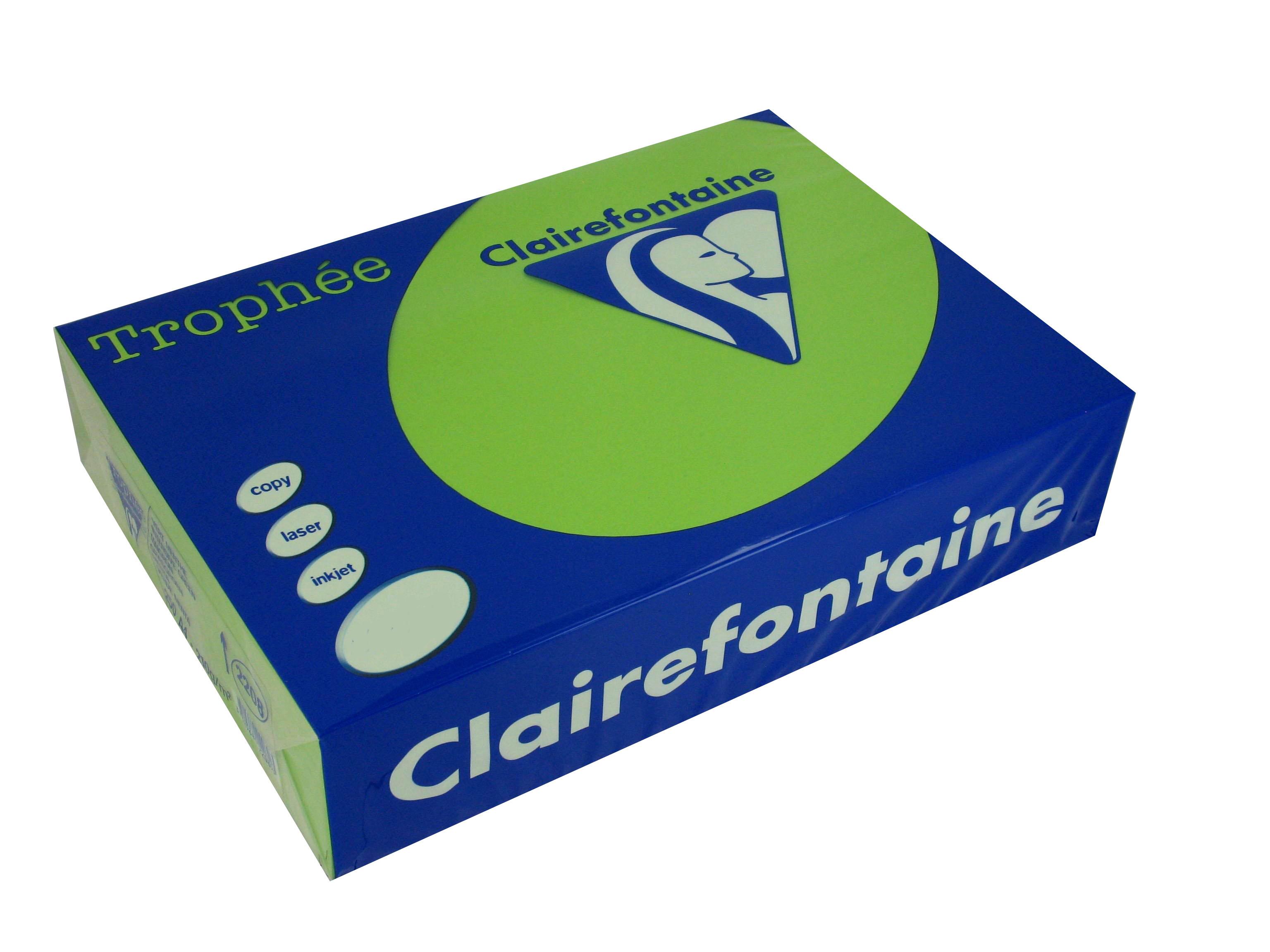 Clairefontaine Trophee Papier Maigrün 160g/m² DIN-A4 - 250 Blatt