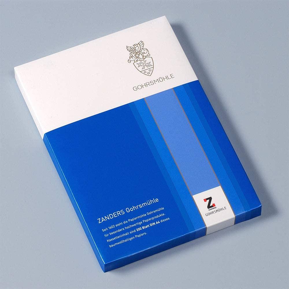 Zanders Gohrsmühle Premium-Briefpapier 100g/m² A4 mit Waserzeichen 200 Blatt Glatt/Matt