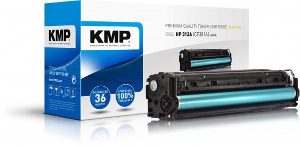 KMP Toner H-T190 kompatibel mit HP CF381A Color Laserjet Pro MFP M476dn etc. cyan
