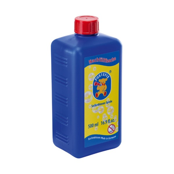 Pustefix – Nachfüllflasche – 500 ml Seifenblasenflüssigkeit – Seifenblasen – Gebrauchsfertig Gemisch