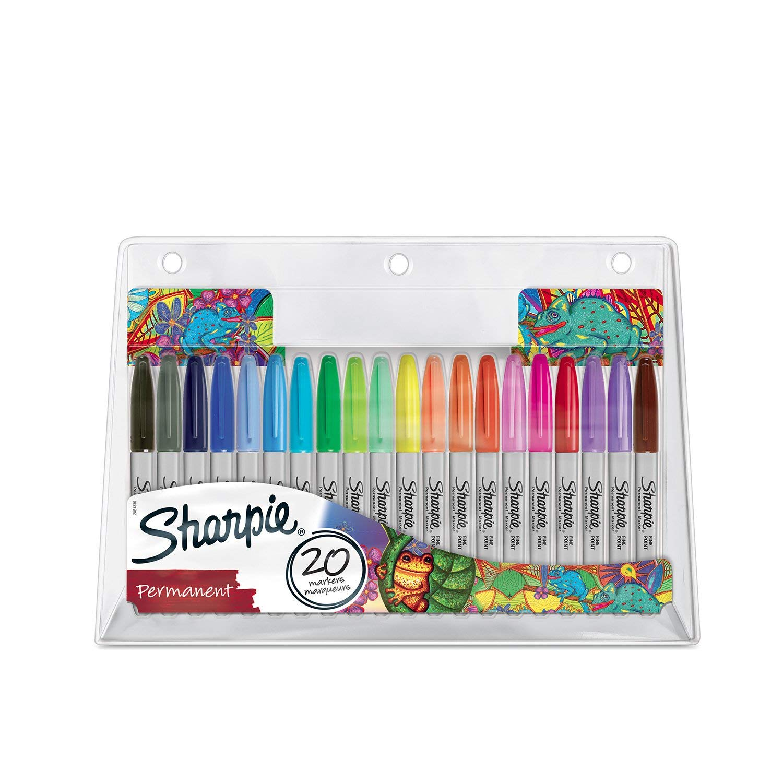 """Sharpie Permanentmarkerset """"Chamäleon"""" limitierte Edition, feine Spitze, farblich sortiert, 20 Stück"""