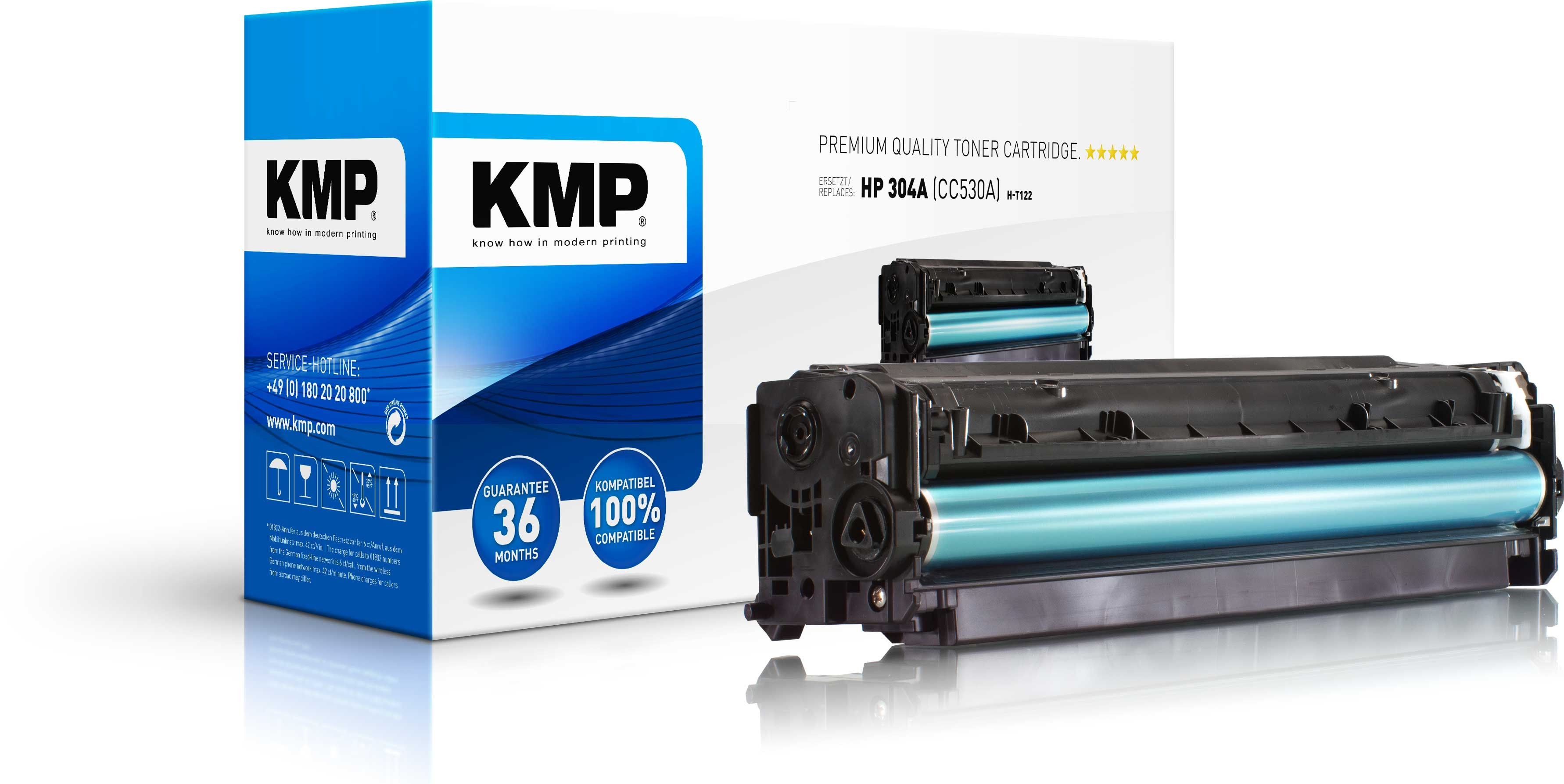 Vorschau: KMP Toner H-T122 für HP CC530A Color LaserJet CP2025 / CM2320 Series black