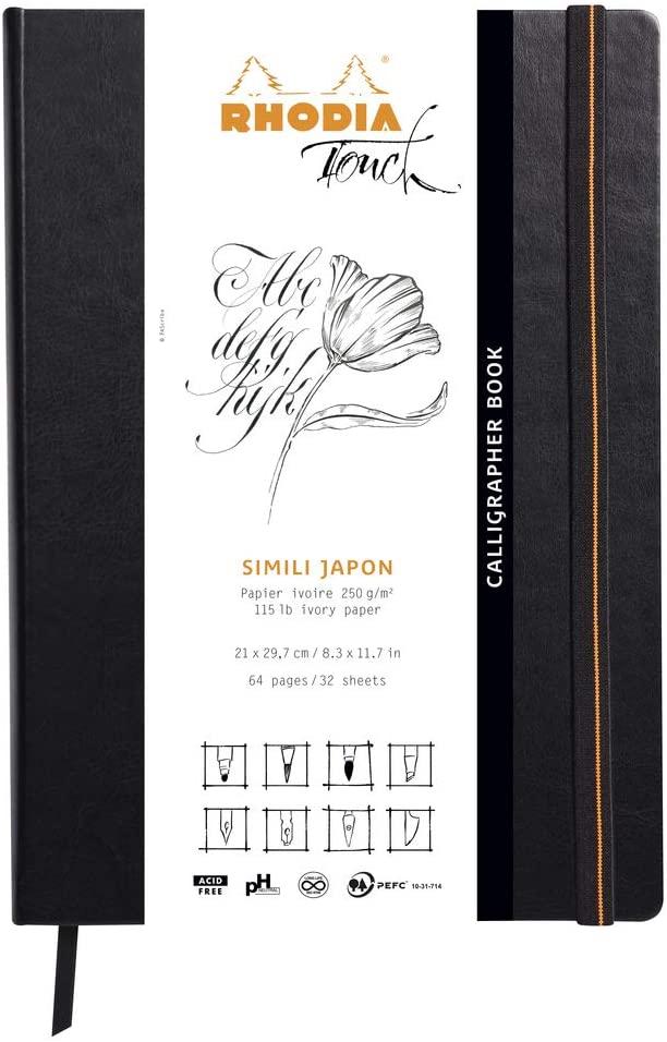 Clairefontaine 116122C Rhodia Calligrapher Pad Block mit 50 Blatt, japanisches Kunstpapier, einfarbi