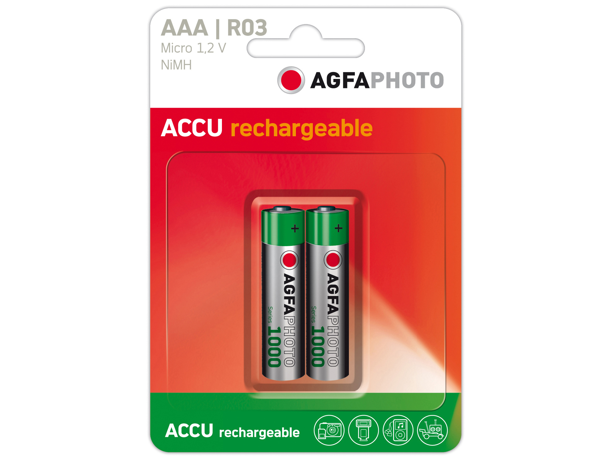 Agfa Photo Akkus AAA LR3 1,2V NiMh Doppelpack