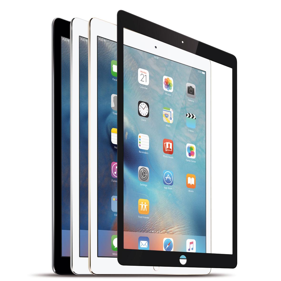 """KMP Protective Glass Schutzfolie für iPad Air, Air 2, Pro 9,7"""", black"""