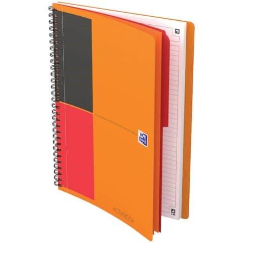 OXFORD 400080787 Activebook Connect International B5 liniert 80 Blatt mit kostenloser App orange Spi
