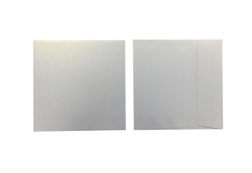 Inapa Shyne Umschläge Quadro White Gold 120g/m² 100 Stück