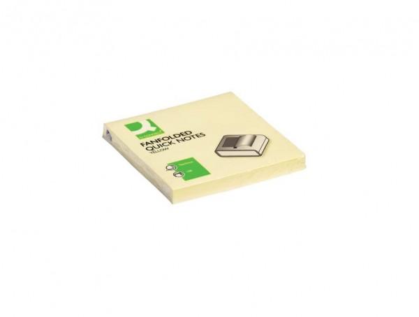 Q-Connect 48799 Nachfüllpack Z-Notenblock, wiederverwendbar, 76 x 76 mm, Schwarz