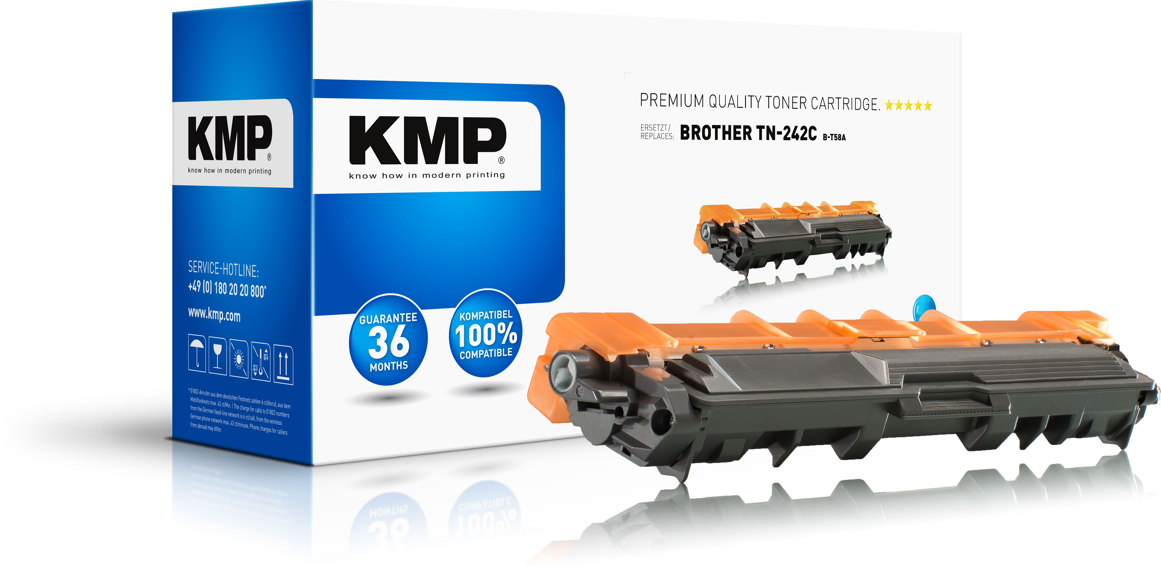 KMP Toner B-T58A für Brother TN242C  DCP-9022CDW etc. cyan