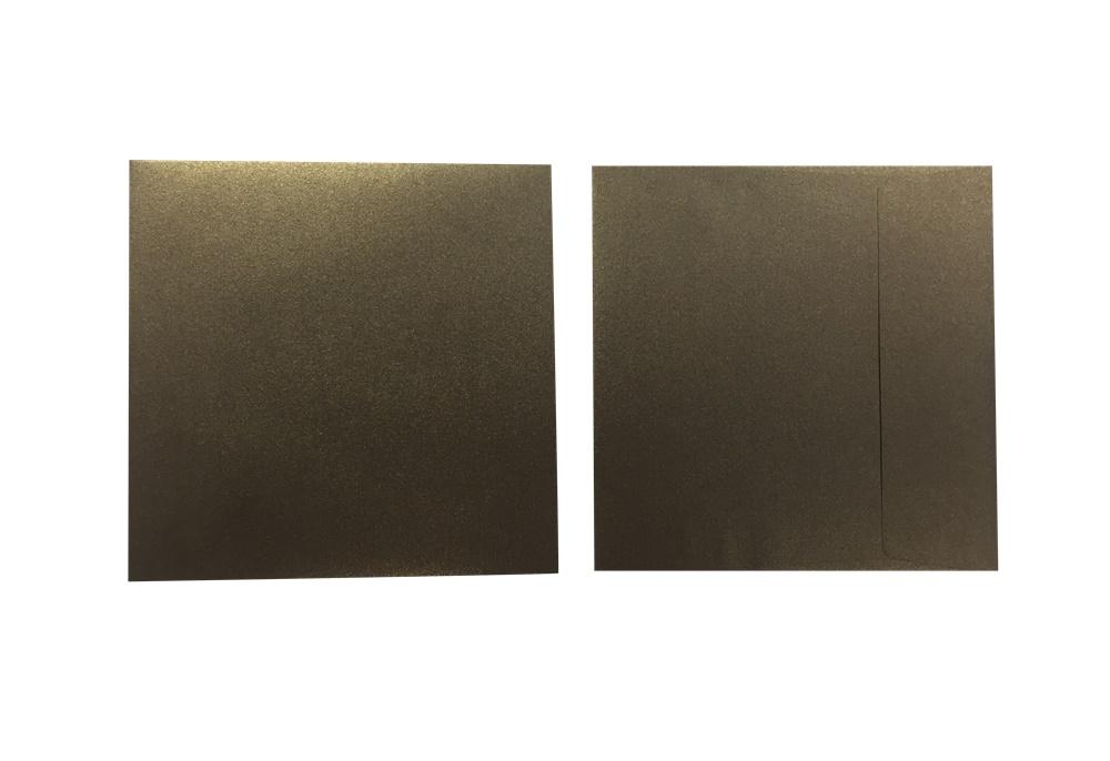 Inapa Shyne Umschläge Quadro Bronze 120g/m² 100 Stück