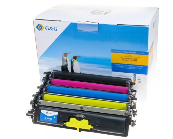 G&G Image Toner -Kombipack- kompatibel zu Brother TN-230 schwarz, cyan, magenta, gelb