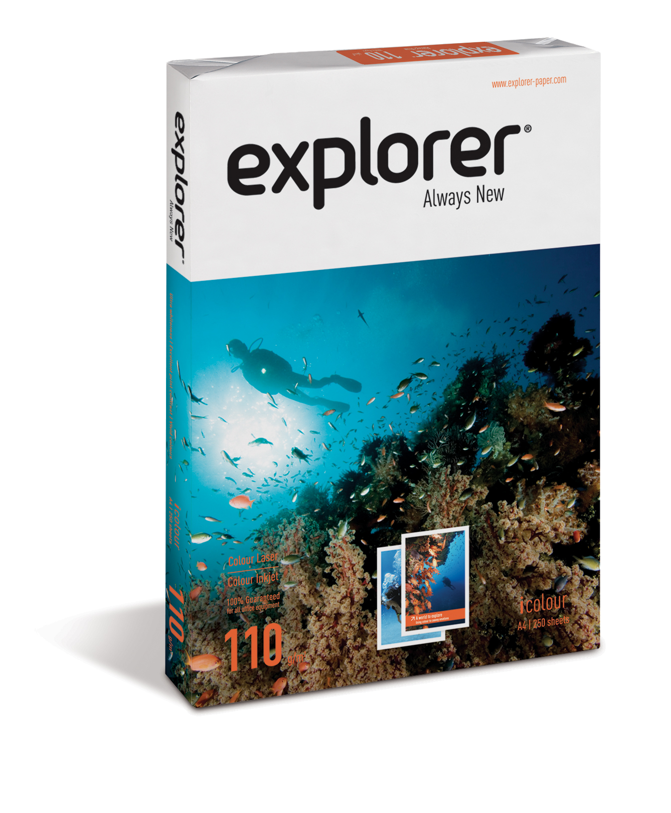 Explorer Always New 110g/m² Papier DIN-A4 - 250 Blatt weiß