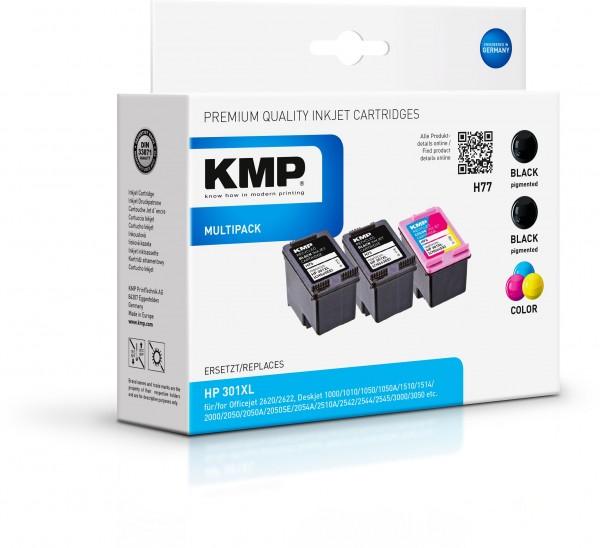 KMP Vorteilspack H77V für HP 301XL (CH563EE, CH564EE)