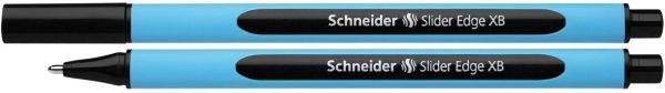 Schneider Kugelschreiber Slider Edge - Kappenmodell, XB, schwarz