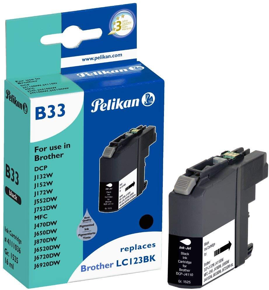 Pelikan Tintenpatrone ersetzt Brother LC123HC, Black, 817 Seiten