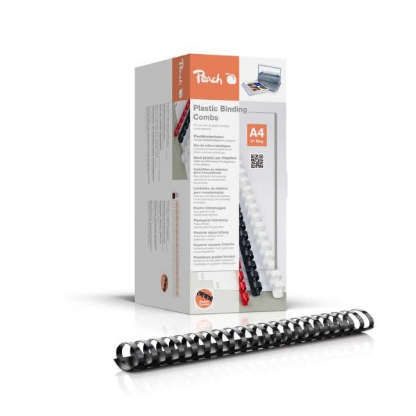 Peach Binderücken 38mm, für 375 Blatt A4, schwarz, 50 Stück, PB438-02