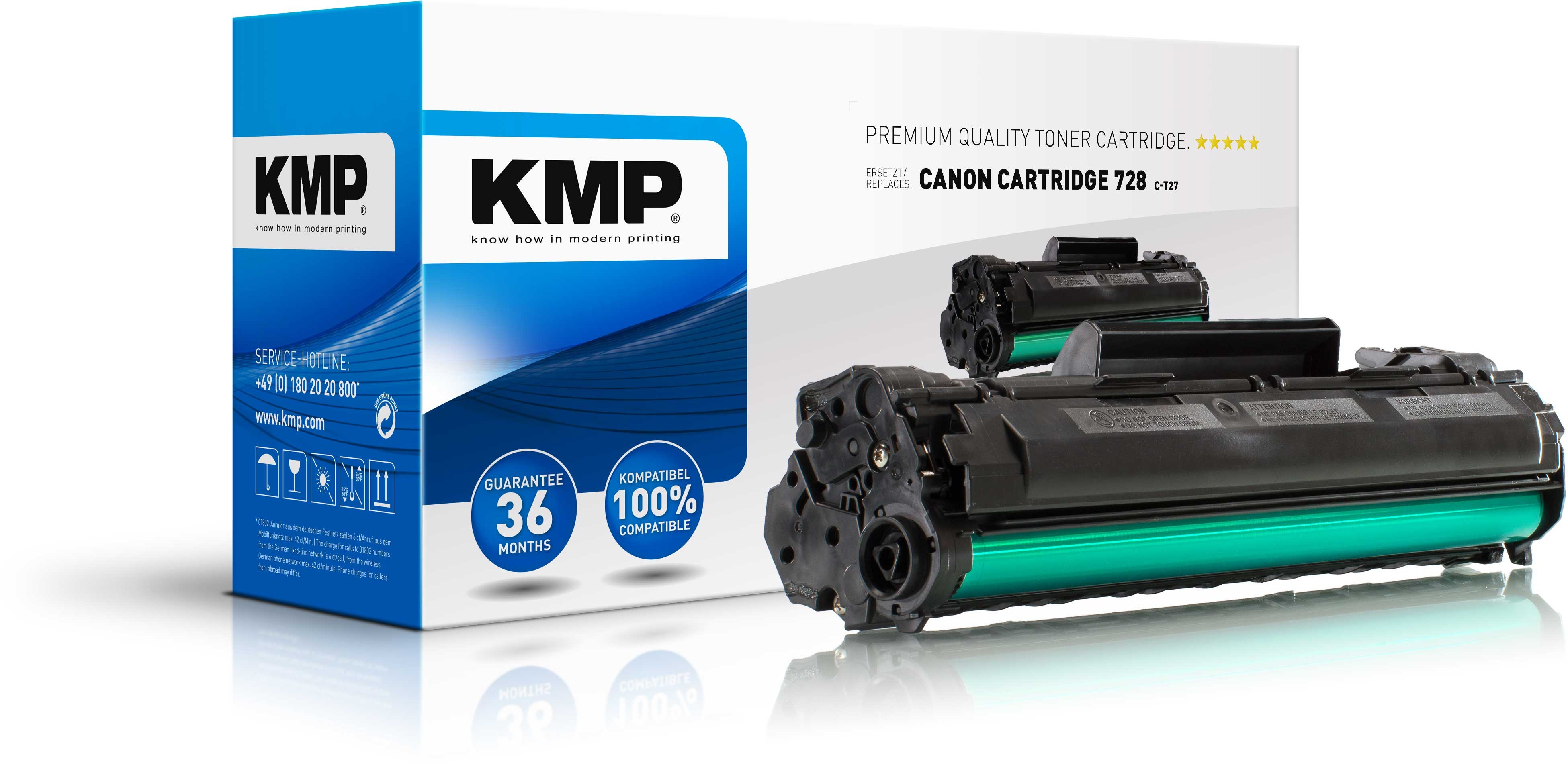 KMP Toner C-T27 für Canon Cartridge 728 MF-4410 MF 4870dn etc. black