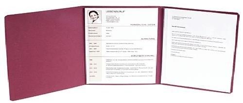 5 x EXACOMPTA Premium Bewerbungsmappe Bordeaux + B4 Versandumschläge mit Leinen-Optik