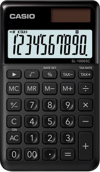 CASIO SL-1000SC-BK stylischer Taschenrechner, 10-stellig, SCHWARZ