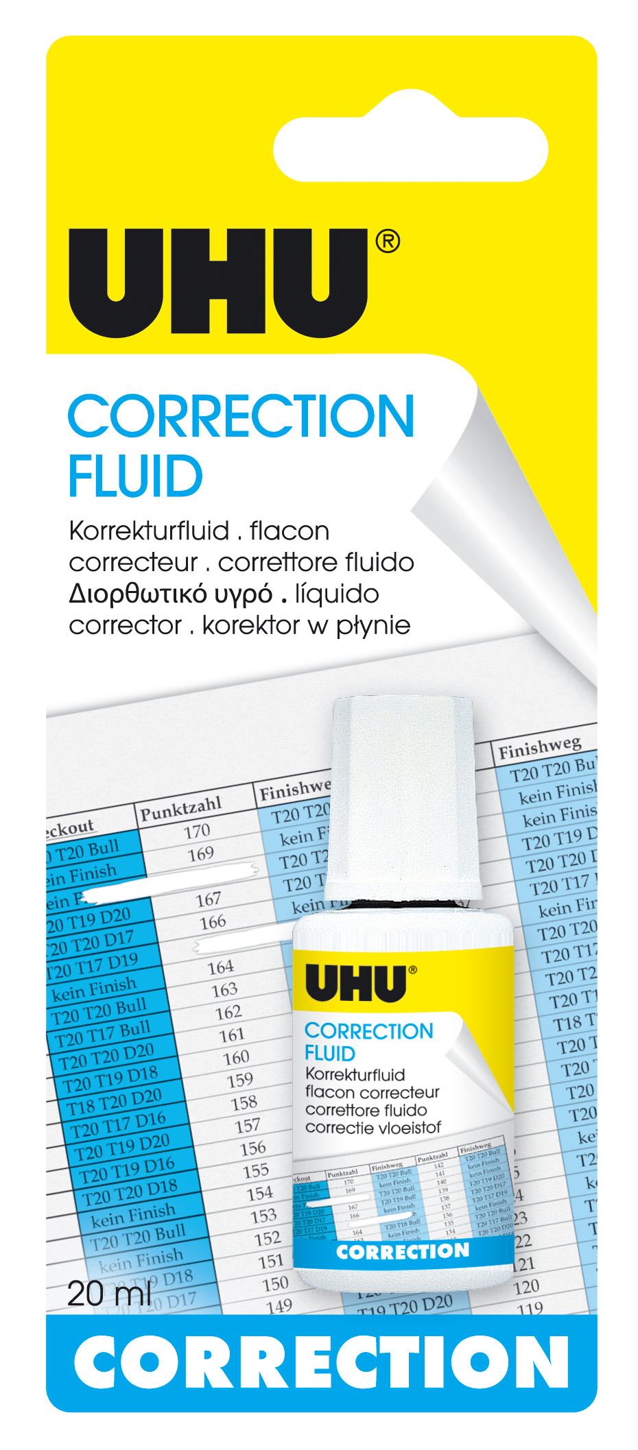 UHU Correction Fluid Korrektur-Fluid Infokarte 20ml