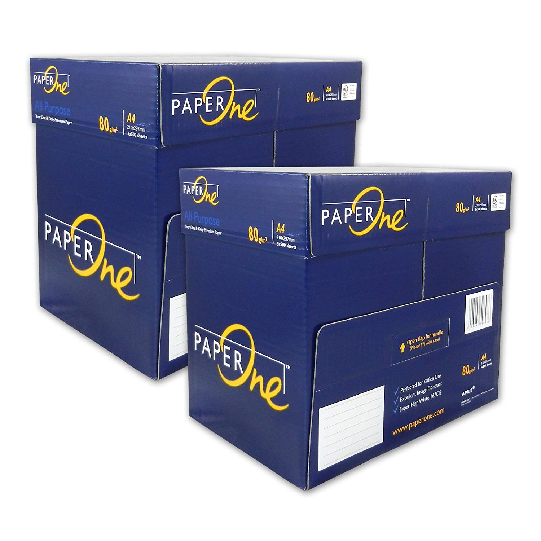 PaperONE ALL Purpose 80 g/qm A4 - 5000 Blatt weiß Kopierpapier Druckerpapier Laserpapier SUPER QUALI