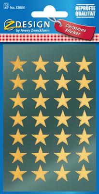 Avery Zweckform Christmas Weihnachts- Sticker - Sterne