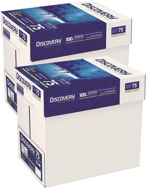 Discovery Papier A4-Format 75 g/m² 10 x Pack 5000 Blatt - 2 x Karton