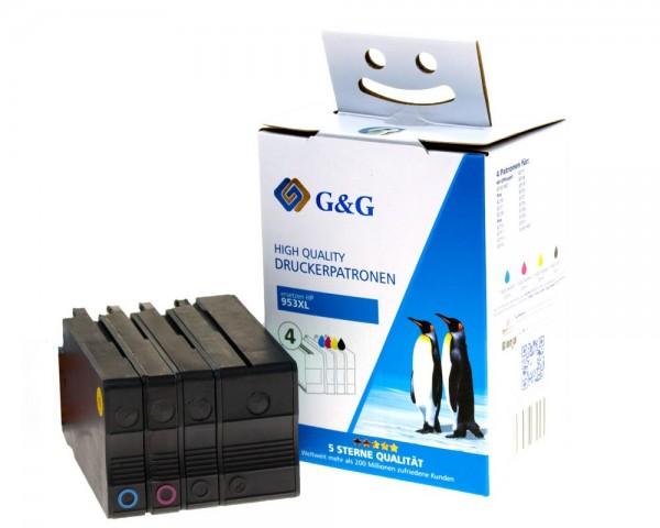 G&G Image Druckerpatronen kompatibel zu HP 953XL Cyan, Magenta, Gelb, Schwarz
