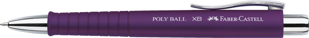 Faber-Castell Kugelschreiber Poly Ball XB - Mine M, dokumentenecht, pflaume