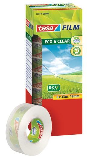 tesafilm Eco & Clear 8 x 33m x 19mm