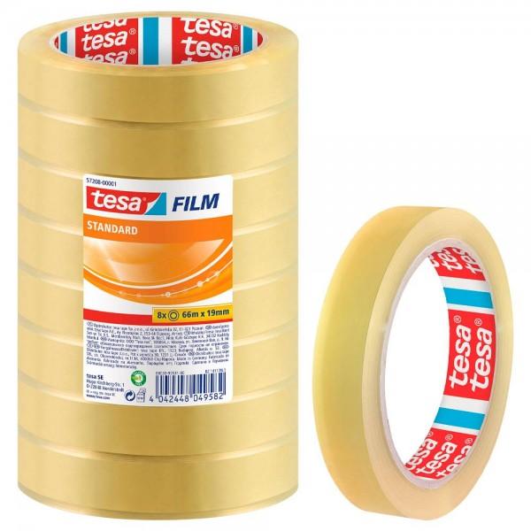 GP:0,01€/m tesa FILM Klebefilm transparent 19,0 mm x 66,0 m - 8 Rollen tesafilm