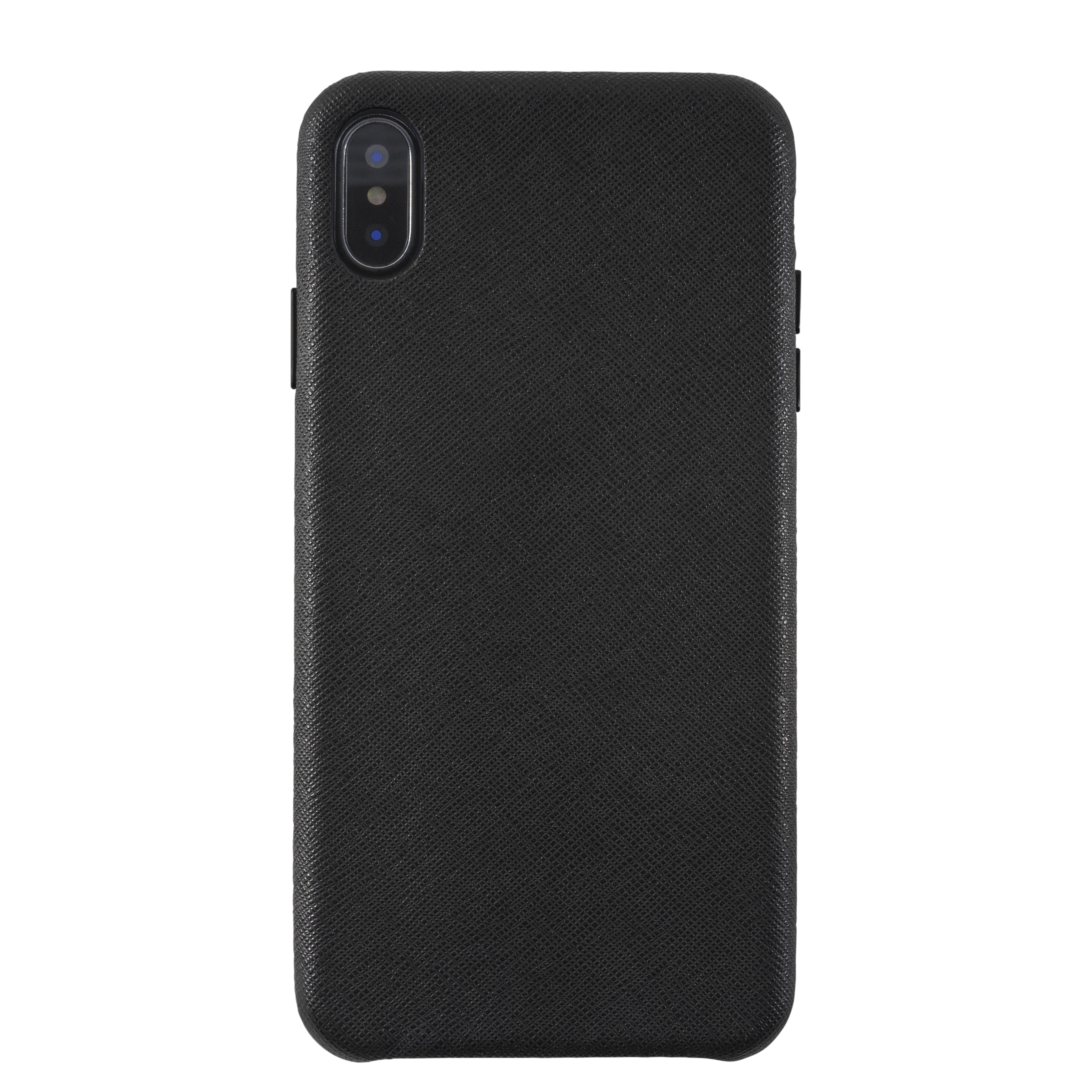 KMP Schutzhülle Leather Case for iPhone XS Max-black