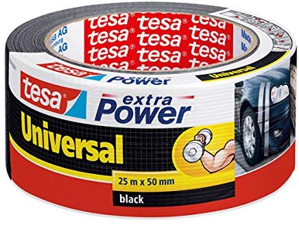 tesa Reparaturband extra Power Universal, schwarz, 25m x 50mm