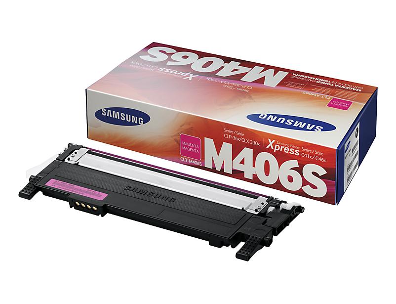 Original Samsung Toner CLT-M406S / ELS für CLP 360 365 etc. magenta