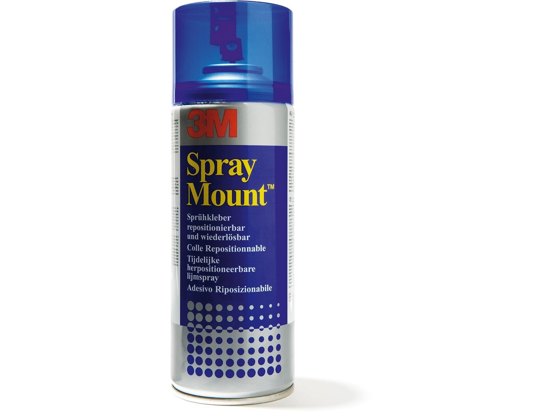 GP: 42,48 EUR/Liter 3M Sprühkleber Spray Mount 400 ml. - mittelstarker Haftkraft für kreative Arbeit