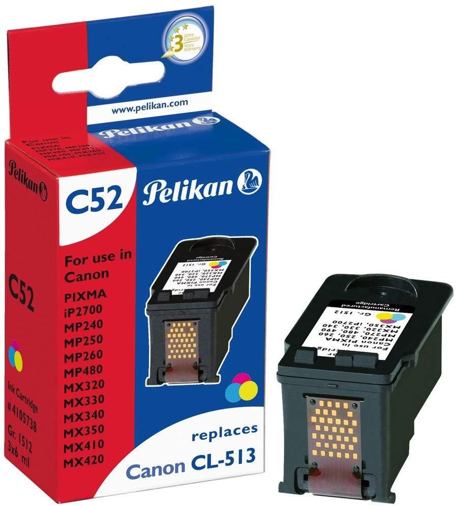 Pelikan Tintenpatrone ersetzt Canon CL-513, C/M/Y, 349 Seiten