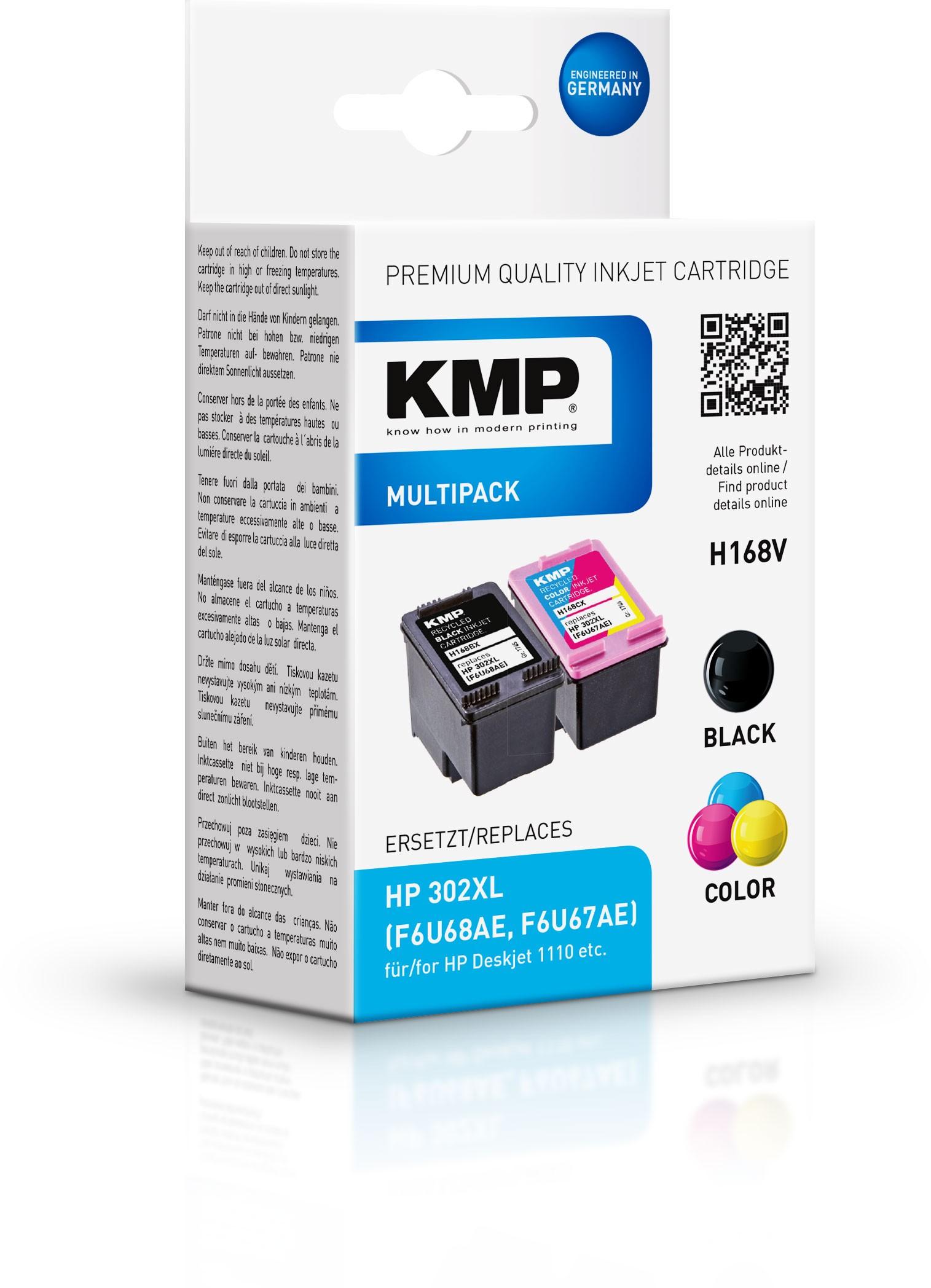 KMP Vorteilspack H168V für Deskjet 1110 Deskjet 2130 etc. black,  color