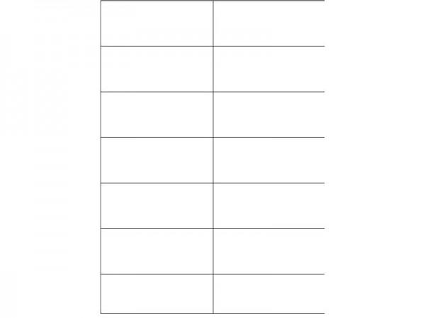 Igepa Etiketten 105,0 x 42,3 mm 100 Blatt in weiß