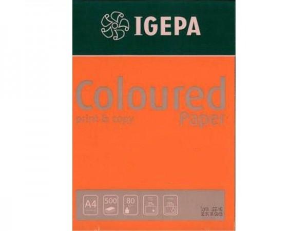 Igepa Coloured Paper Intensiv orange 80g/m² DIN-A4 - 500 Blatt