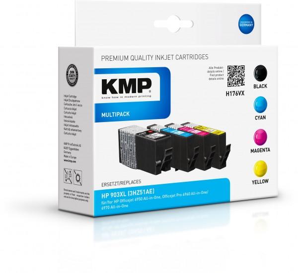 KMP Multipack H176VX für (T6M15AE, T6M03AE, T6M07AE, T6M11AE) HP 903XL HP OfficeJet 6900 Series HP O