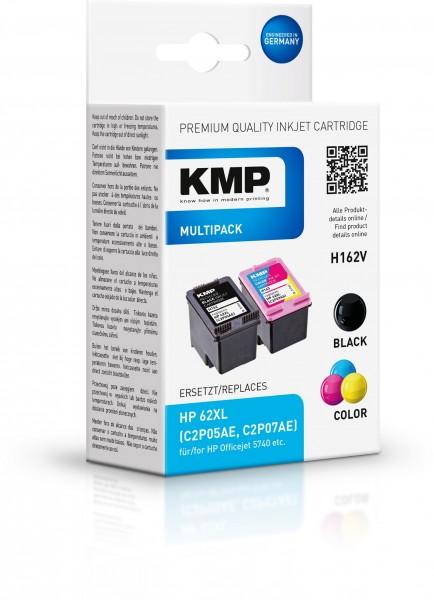 KMP Multipack H162V für HP 62XL (C2P05AE, C2P07AE)