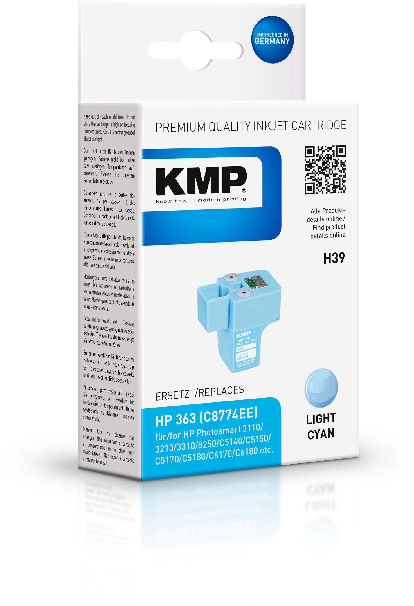 Vorschau: KMP Patrone H39 komp. C8774EE HP363 für HP Photosmart 8250 hell